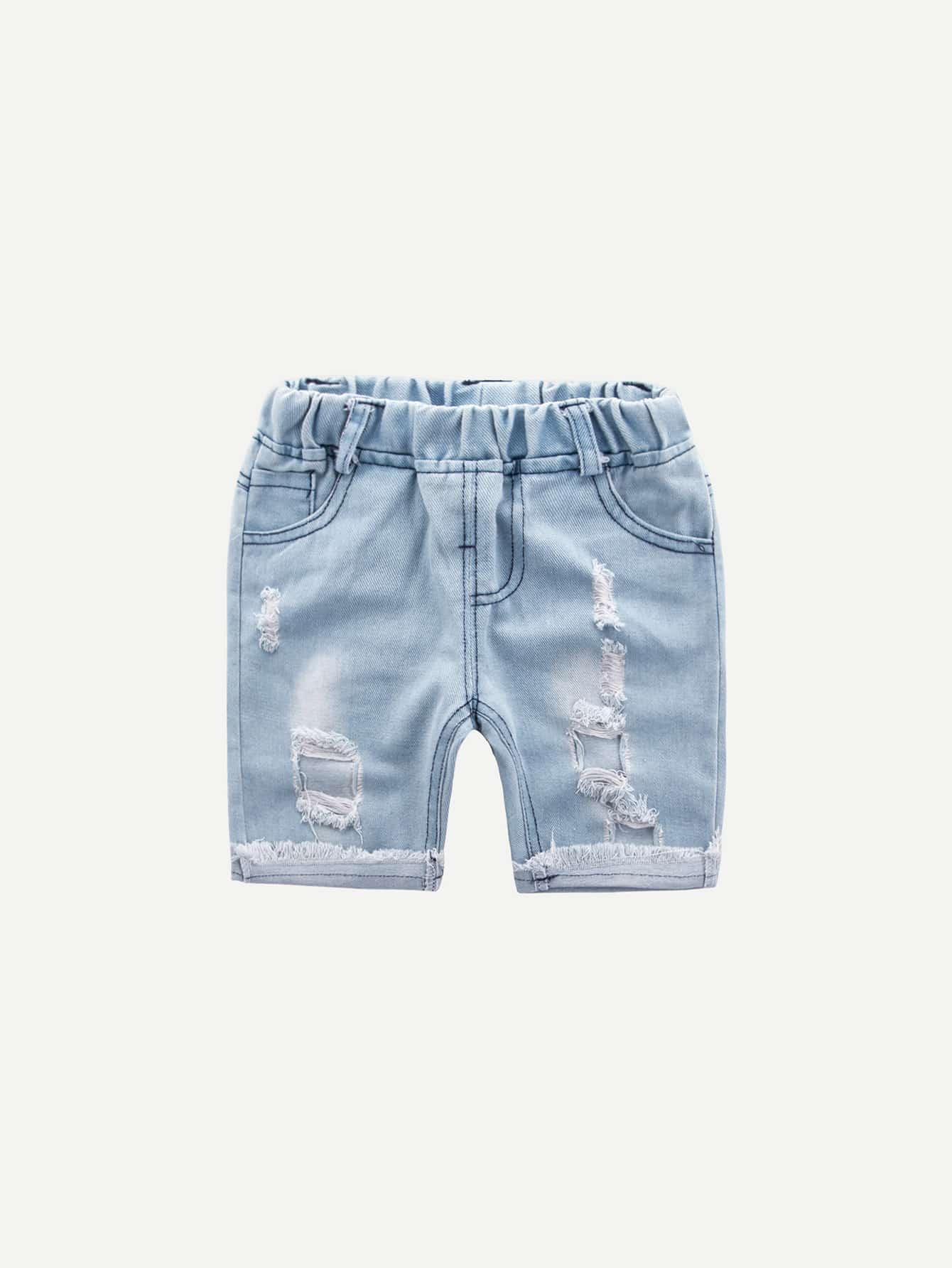 Boys Ripped Make Old Denim Shorts jack wolfskin сумка werrington