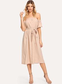 Bardot Self Tie Dress