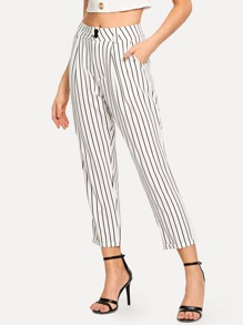 Striped Pocket Button Pants