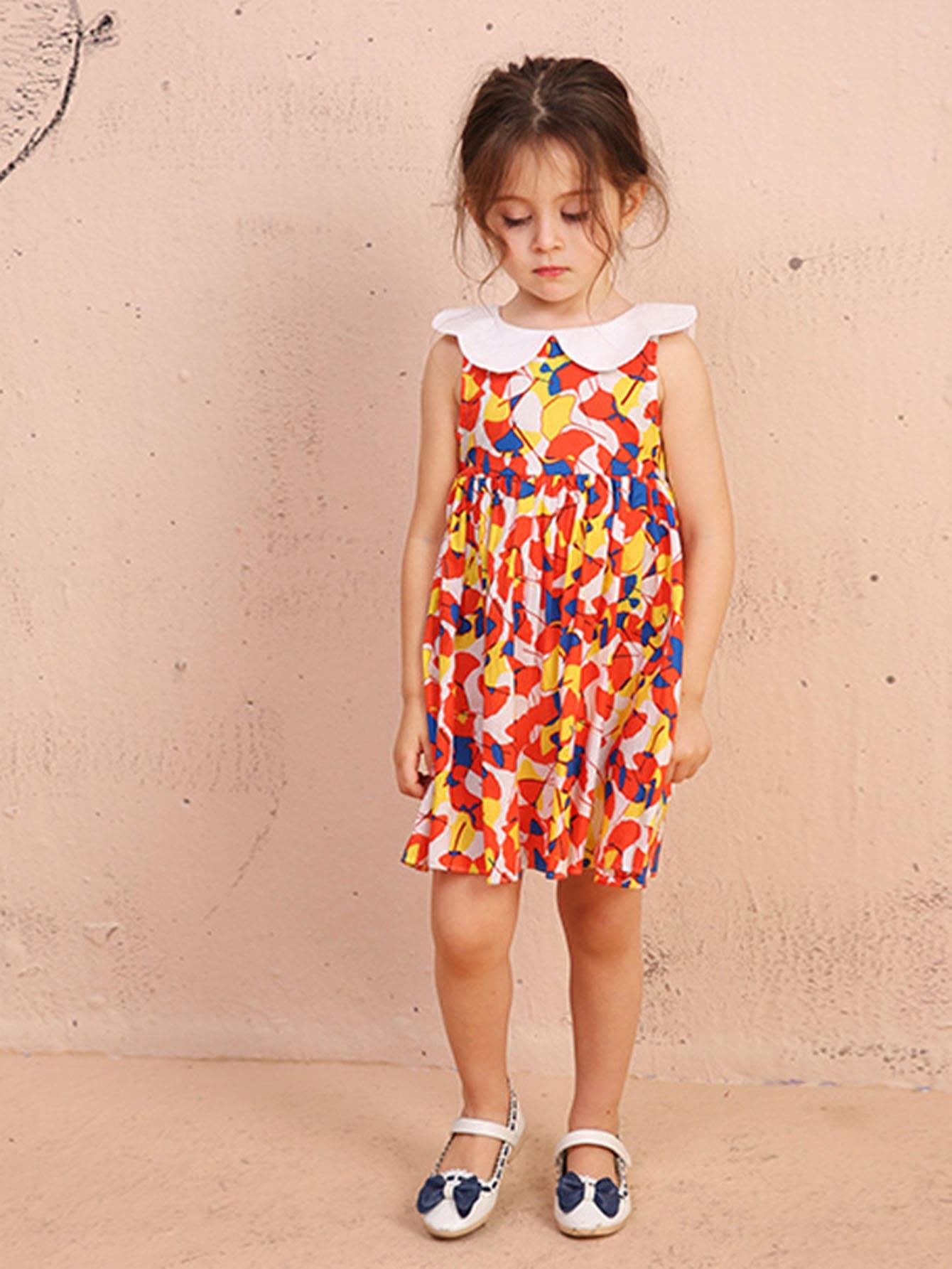Girls Ginkgo Biloba Print Dress поддержка нервной системы now foods ginkgo biloba 60mg 240 капс