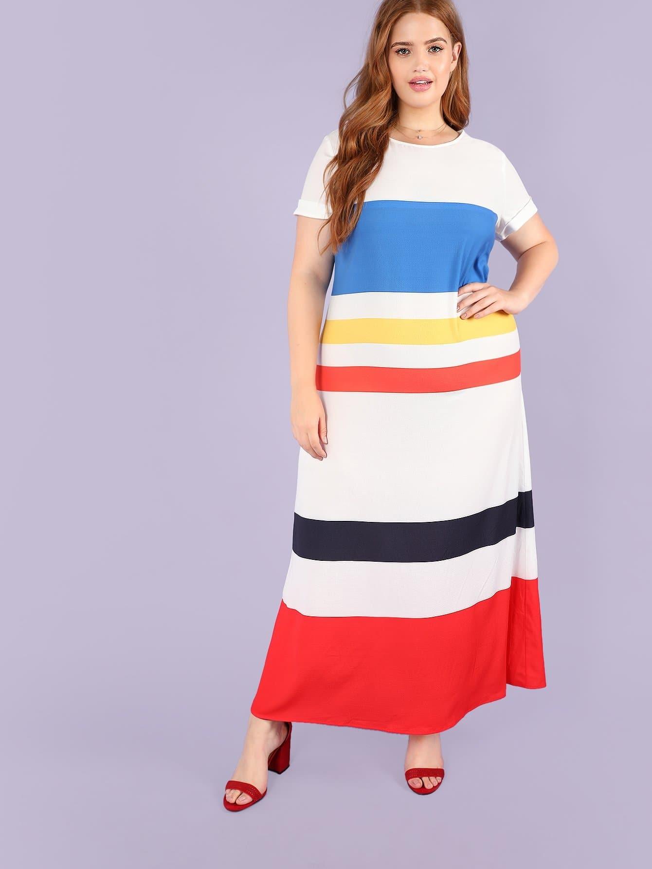 Купить Платье цветной туники, Bree Kish, SheIn