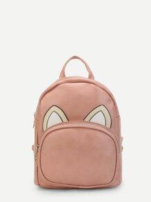 Ear Pattern PU Backpack