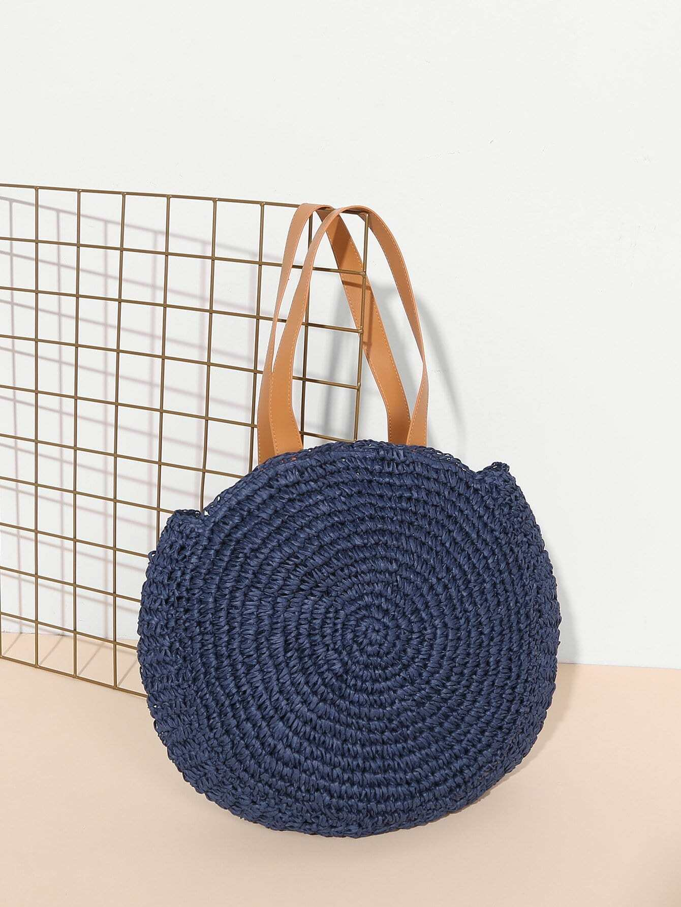 Фото - Woven Tote Bag With Double Handle sequin tote bag with double handle