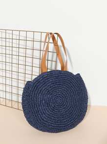 Woven Tote Bag With Double Handle