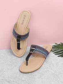 Toe Post Flat Slippers