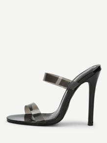 PVC Strap Stiletto Heels