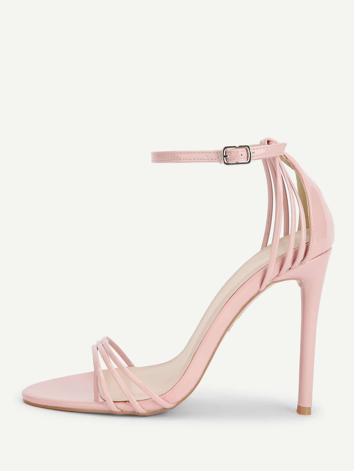Ankle Strap Open Toe Heeled Sandals woman high heels sandals gold chains sandals lady high heels sandals sexy open toe pumps cut outs dress nightclub shoes b160