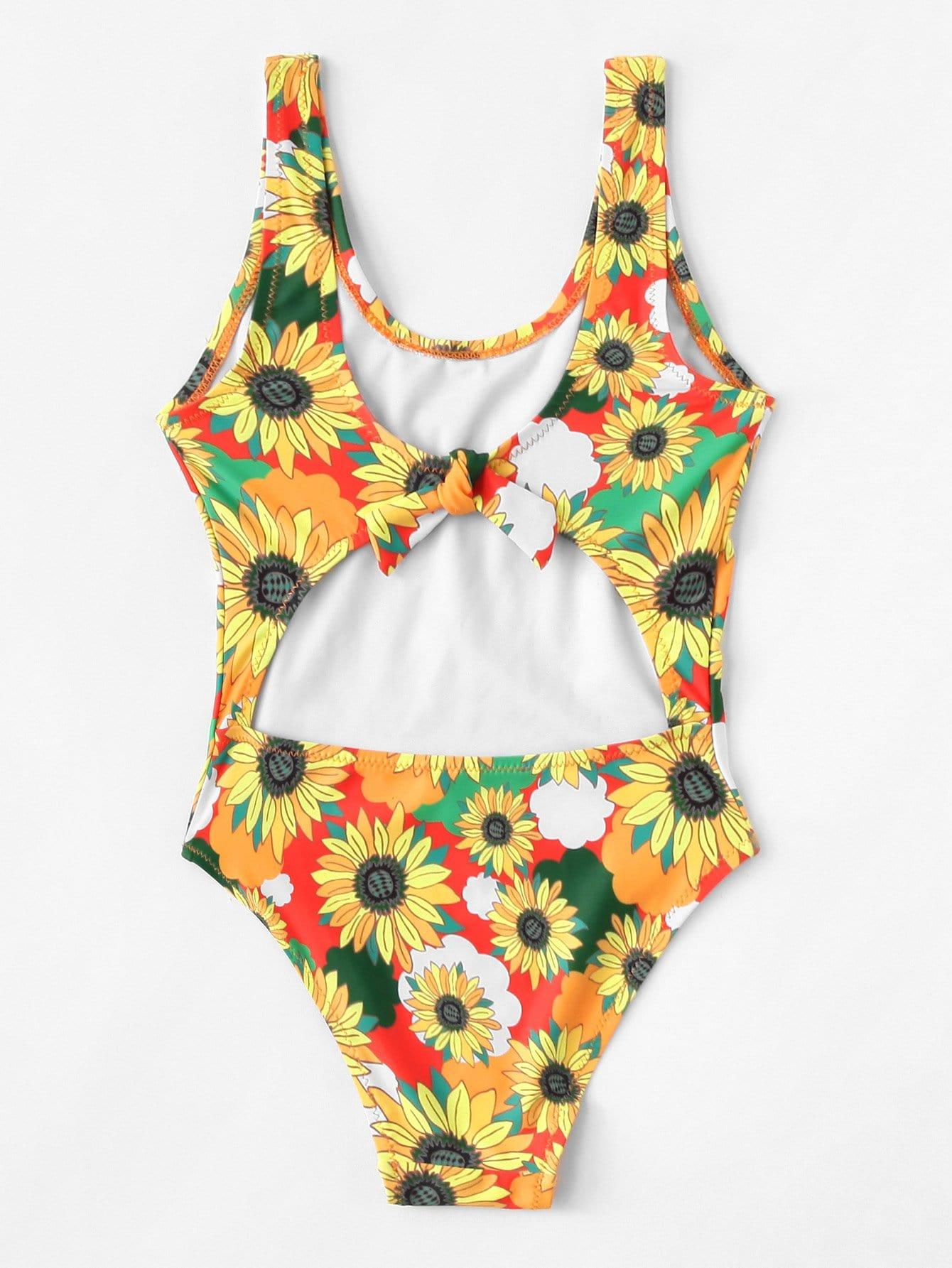 Купить Цветочный купальник для девочек, null, SheIn