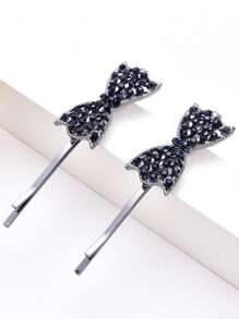 Bow Decorated Hair Clip 2pcs
