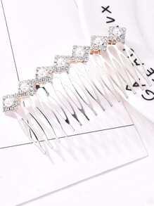 Faux Pearl & Rhinestone Hair Pin