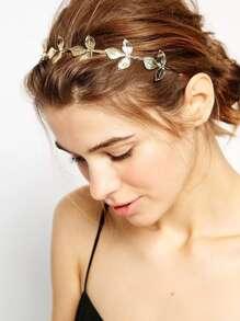 Metal Leaf Headband