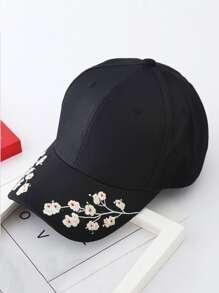 Embroidered Flower Baseball Cap