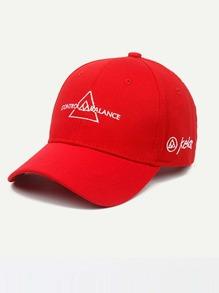 Embroidered Triangle Baseball Cap