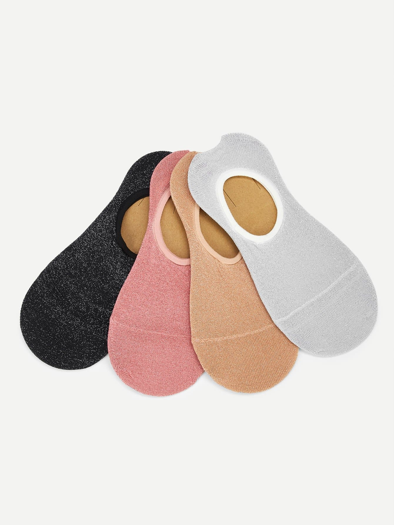 Glitter Invisible Sock 4pairs