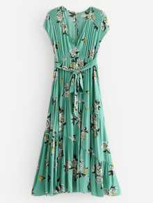 All Over Florals Knot Front Dress