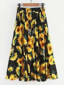 Sunflower Print Skirt