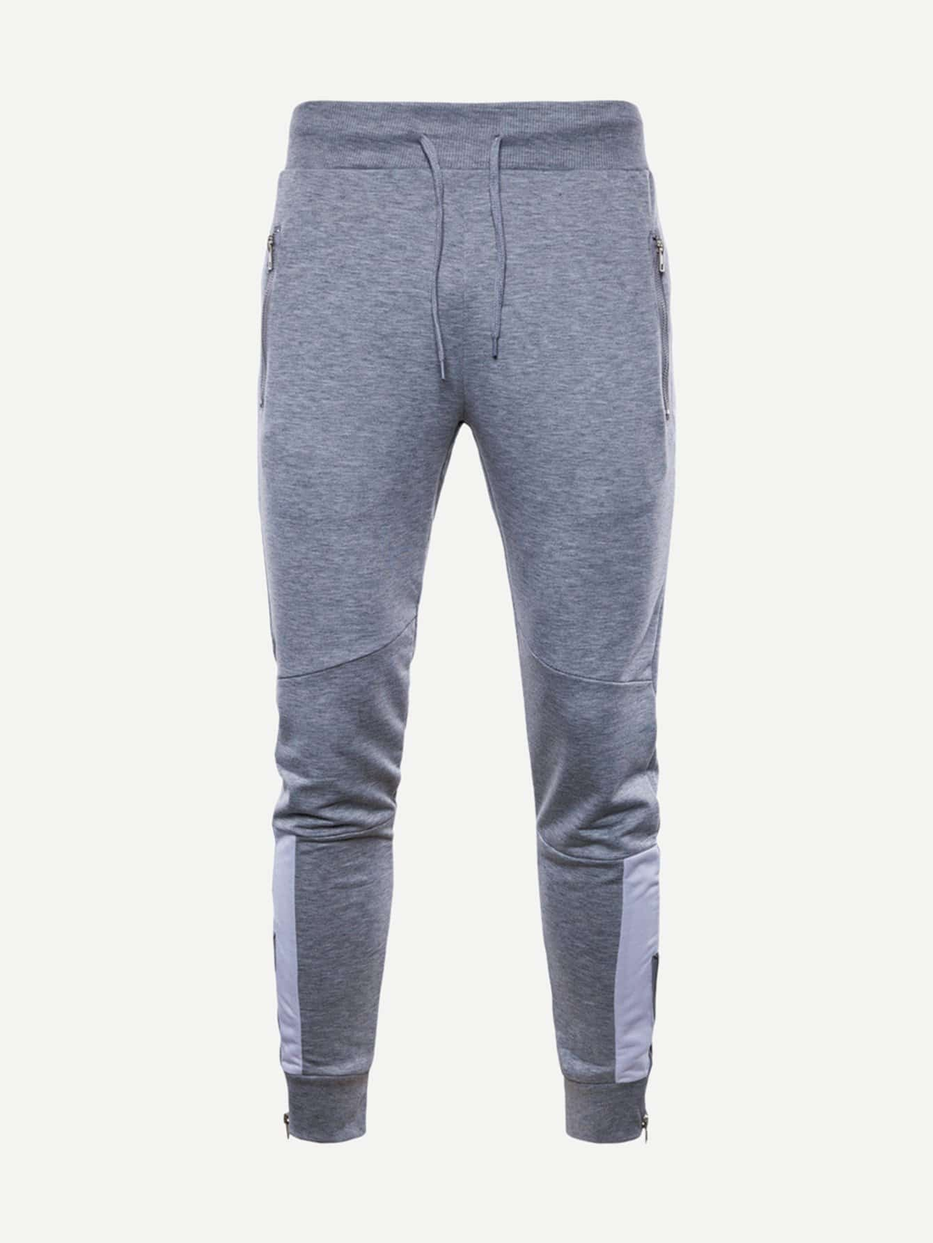 Men Cut And Sew Panel Drawstring Pants айгнер м комбинаторная теория
