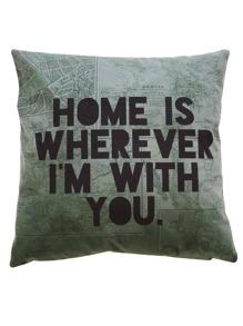 Slogan Print Pillowcase Cover 1pc
