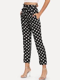 Polka Dot Frilled Pants