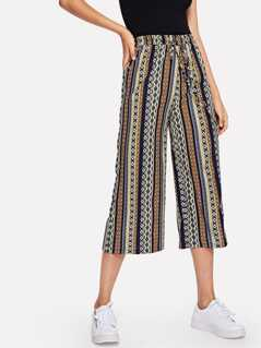 Waist Drawstring Tribal Pants