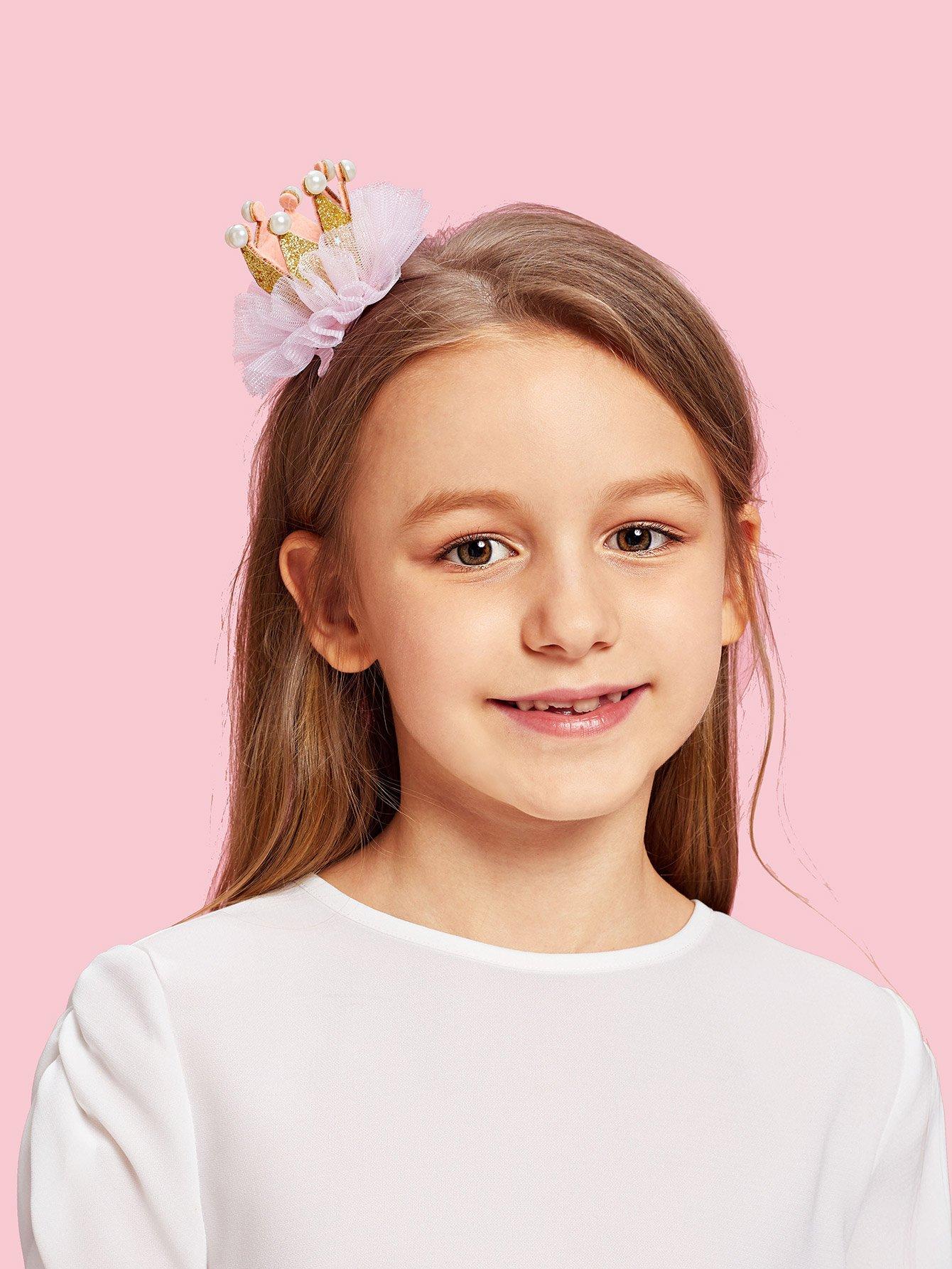 Купить Комплект заколок для волос 2 шт. для детей корона, null, SheIn