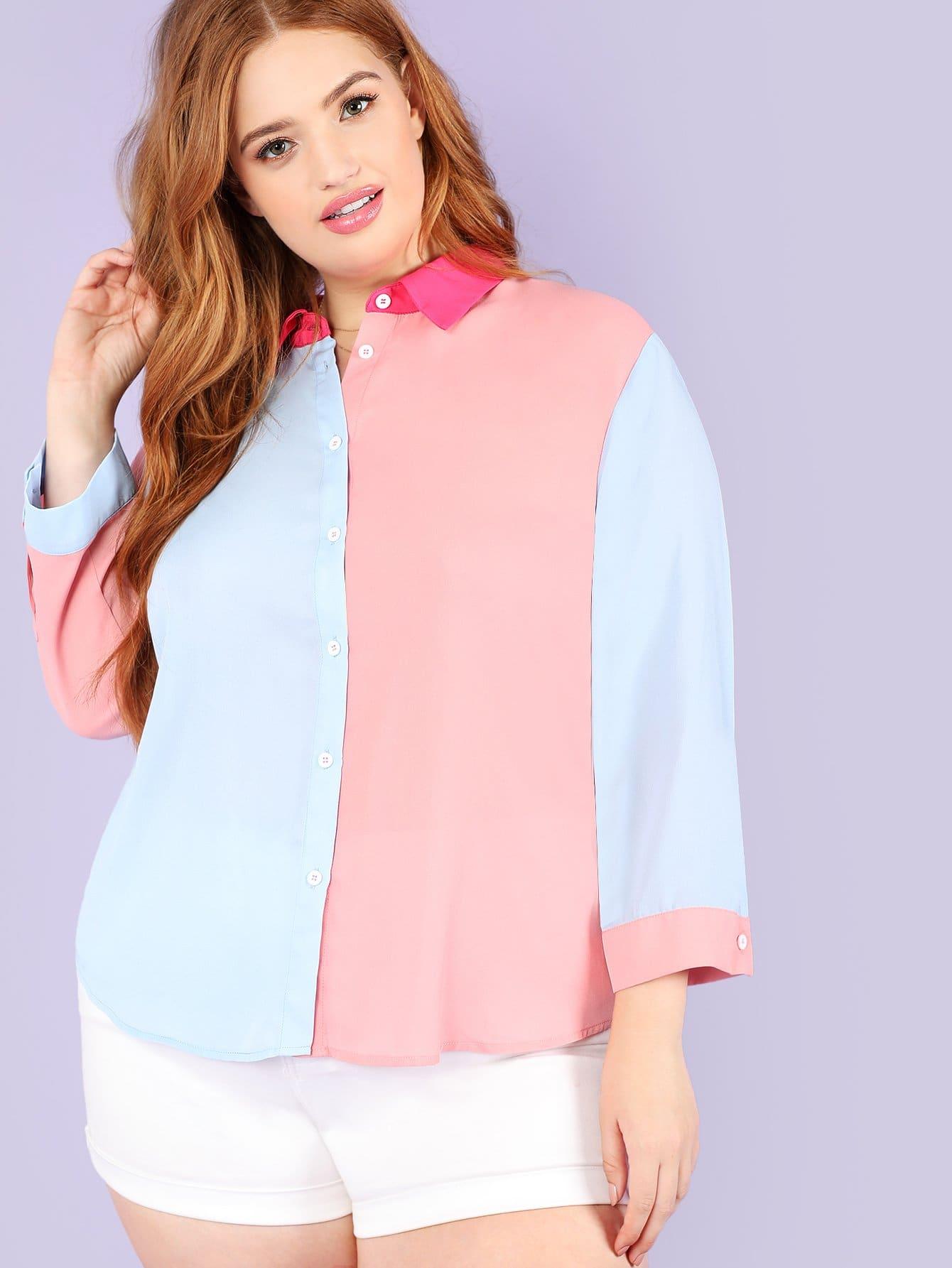 Купить Цветная блузка, Bree Kish, SheIn