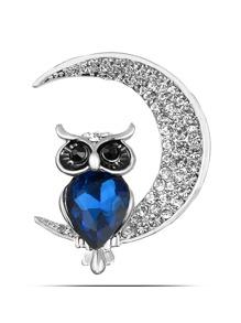 Owl & Moon Design Brooch