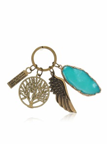 Tree & Wing Detail Keychain