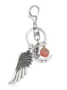 Moon & Wing Design Keychain