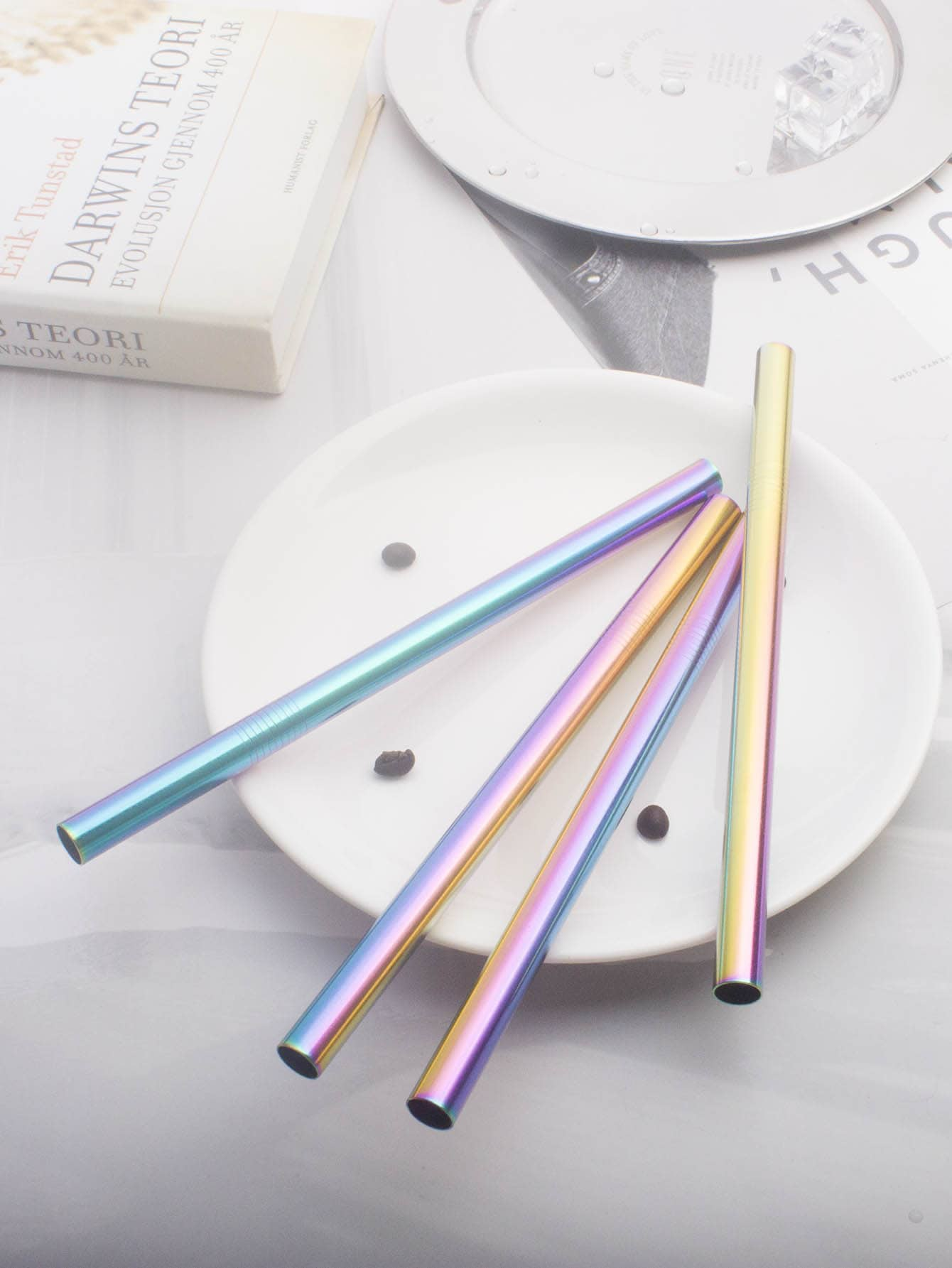 4pcs Straw & 1pc Brush & 1pc Pouch 1pc