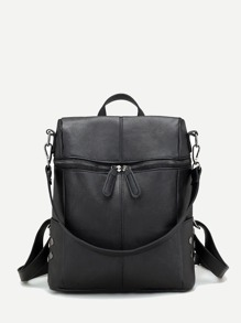 Zipper Front Detail Backpack