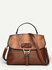 Snakeskin Print Grab Bag