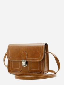 Push Lock Detail Shoulder Bag