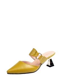 Pointed Toe Chunky Heels