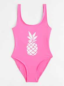 Pineapple Print Swimsuit