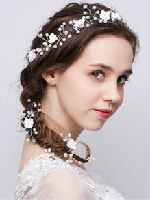 Faux Pearl Hair Vine