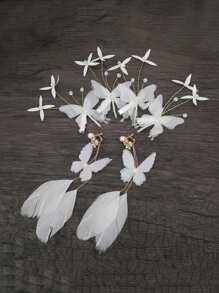 Butterfly Hair Clips & Earrings