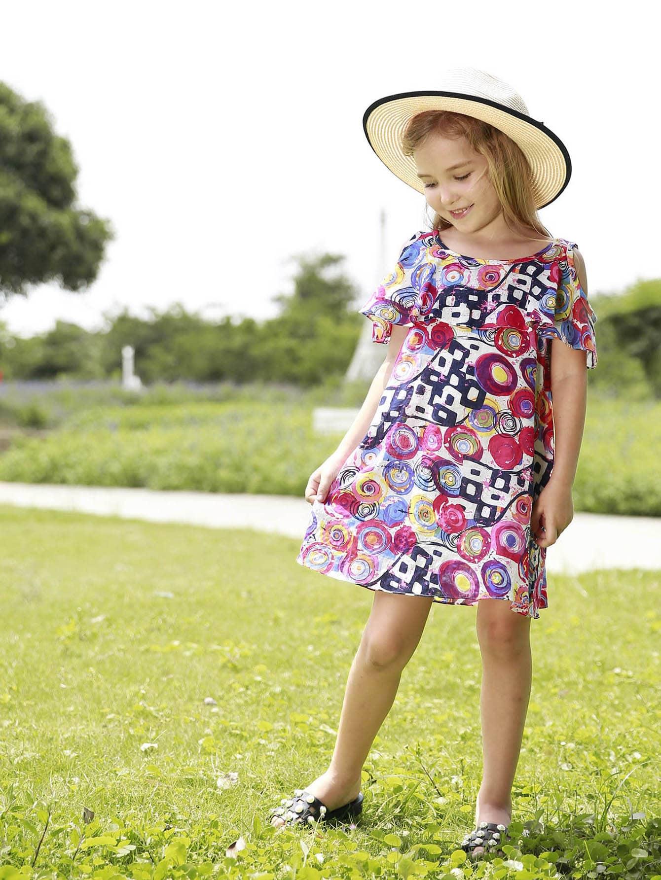 Купить Облегающое платье с розеткой для девочки, null, SheIn