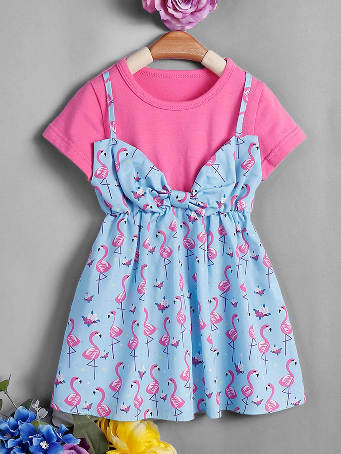 Girls Flamingo Print 2 In 1 Dress рюкзак ors oro ors oro or010bwasyu7