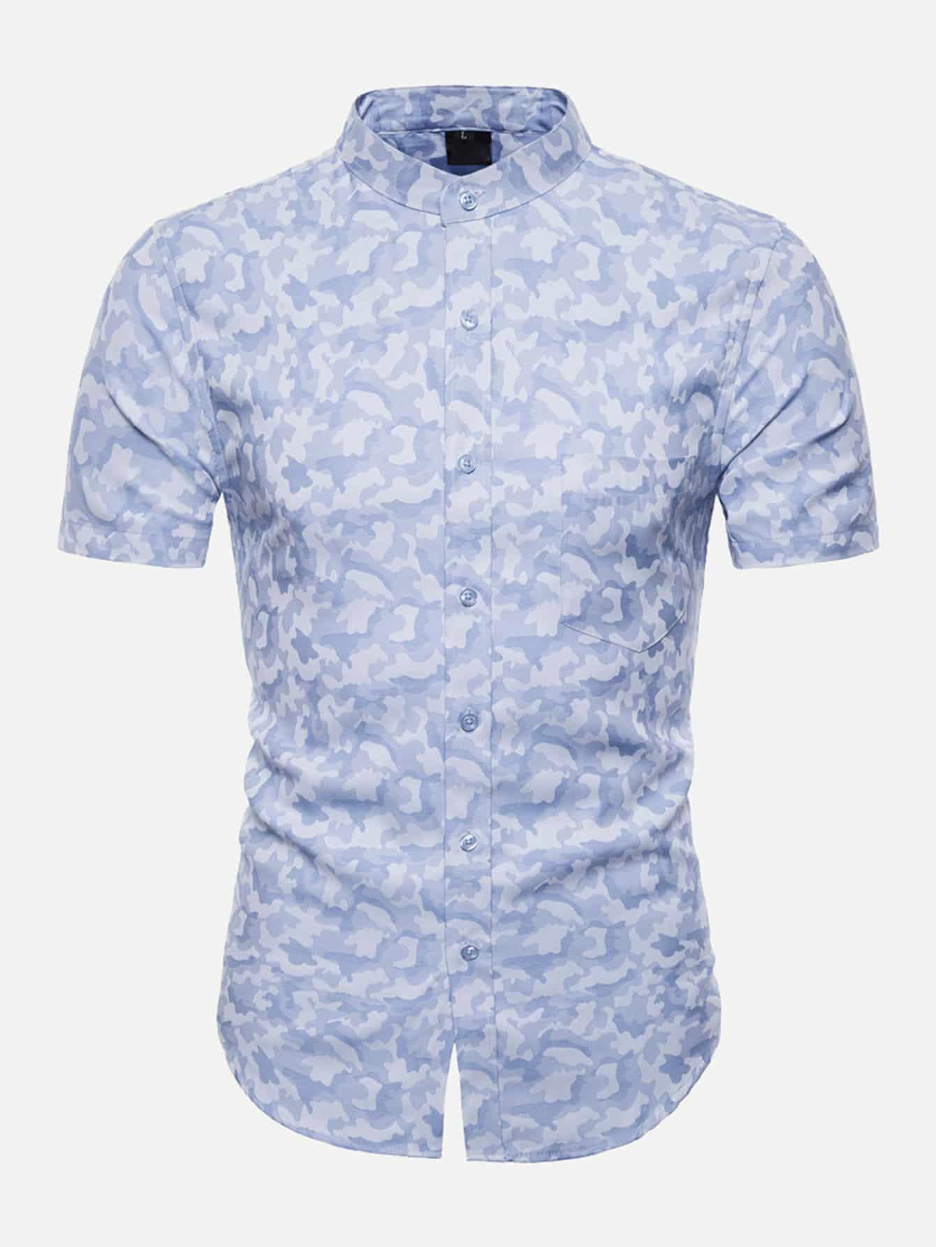Men Camo Print Shirt