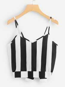 Knot Back Striped Cami Top