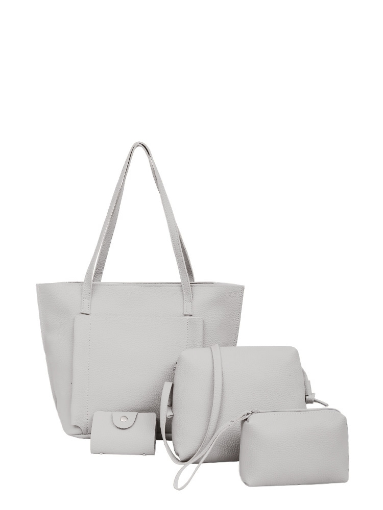 Pocket Front Tote Bag & Crossbody Bag & Clutch & Card Holder crossbody bowler bag