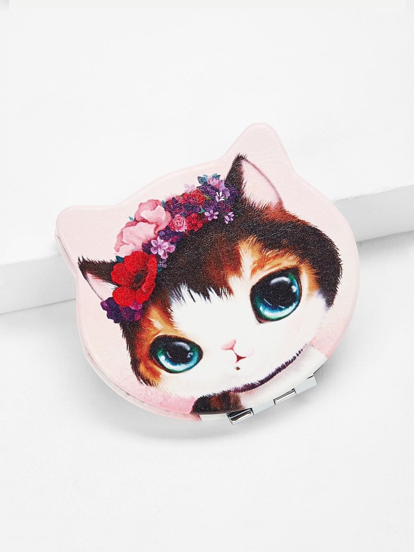 Cat Shaped Mirror elegant cat mirror cat bovine anti theft door aw4620c 02 copper luxury carved cat