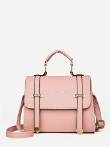 Double Buckle Flap Satchel Bag