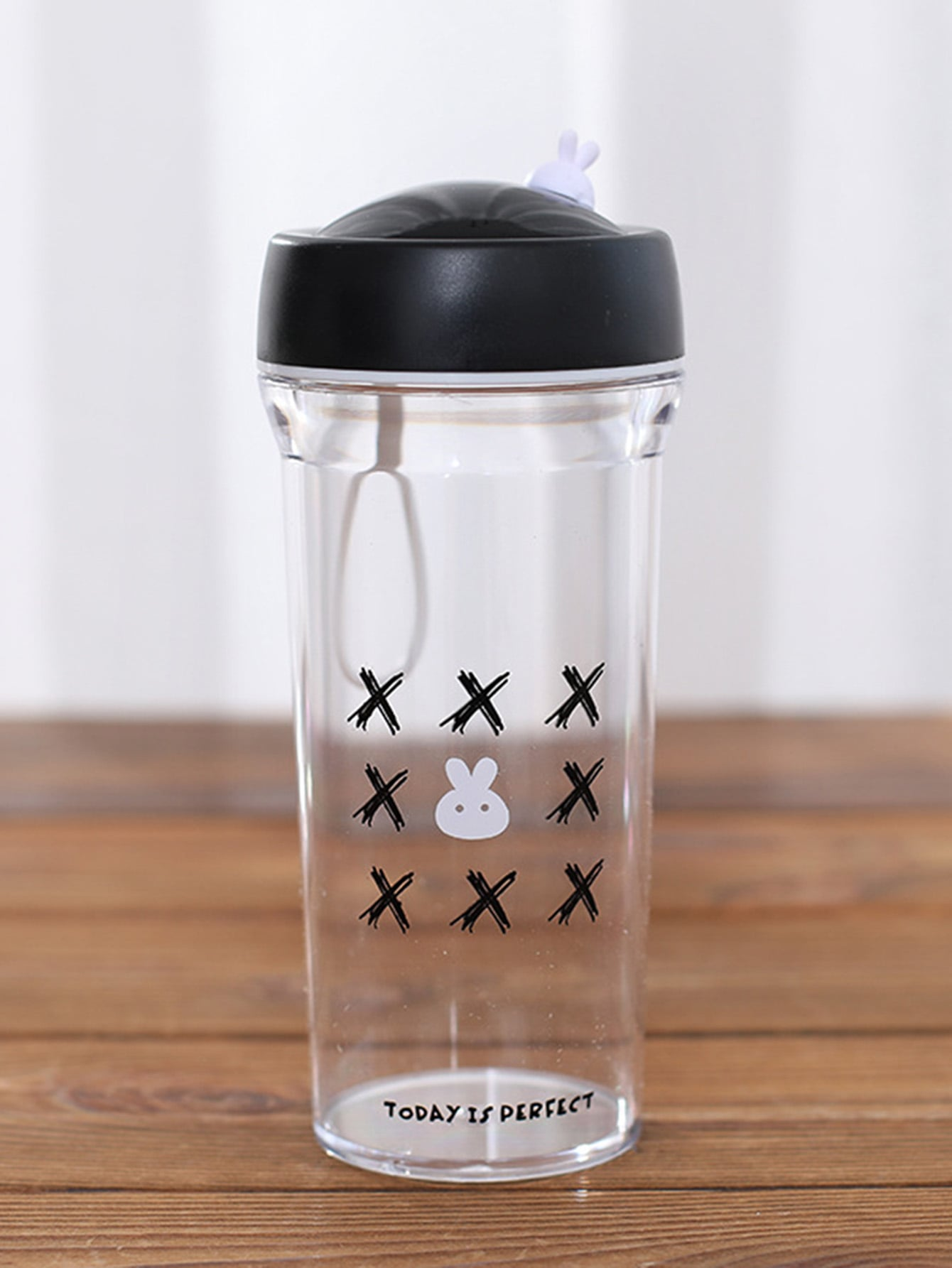 Rabbit Print Water Bottle 350ml rabbit print pullover
