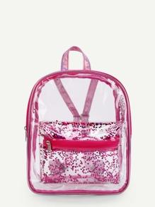 Pocket Front Clear Backpack