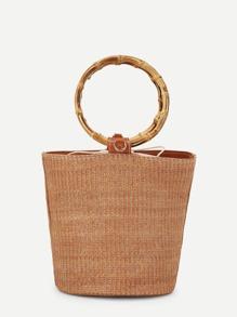 Bucket Crossbody Bag With Double Handle