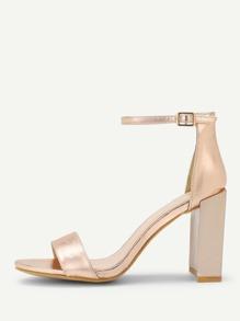 Ankle Strap Block Heeled Sandals
