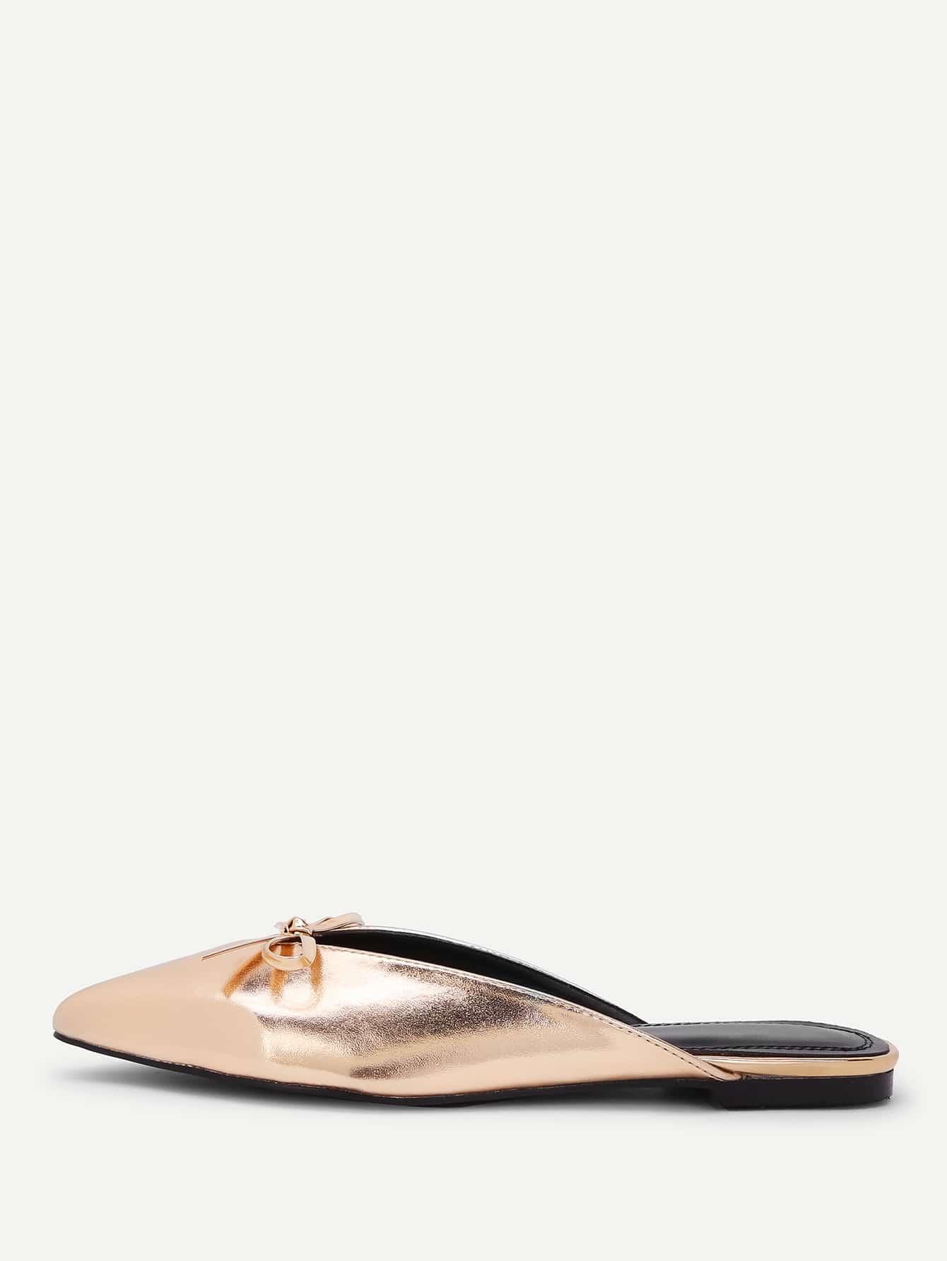 Купить Острый носок Золотые На плоской подошве, null, SheIn