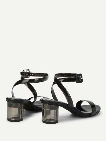 SheIn / Ankle Strap Chunky Heeled Sandals